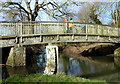 SP5798 : Footbridge across the River Sence by Mat Fascione