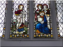 TQ0044 : Holy Trinity, Bramley: stained glass window (a) by Basher Eyre
