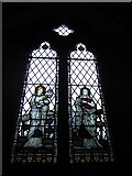 TQ0044 : Holy Trinity, Bramley: stained glass window (e) by Basher Eyre