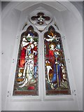 TQ0044 : Holy Trinity, Bramley: stained glass window (k) by Basher Eyre
