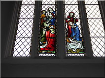 TQ0044 : Holy Trinity, Bramley: stained glass window (m) by Basher Eyre