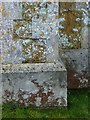 SK7713 : Bench mark, St James's church, Little Dalby by Alan Murray-Rust