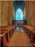 SD3778 : Cartmel Priory Nave by David Dixon
