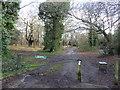 TQ4093 : Entrance to Knighton Wood by Marathon