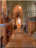 SD3778 : Cartmel Priory South Aisle by David Dixon