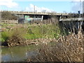 TQ4191 : Looking across the River Roding to Roding Valley Park and the M11 by Marathon