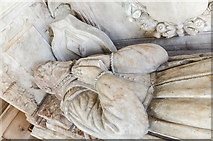 SK7645 : Edward Burnell effigy, Sibthorpe church by Julian P Guffogg