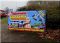 SO5039 : Theme Park Experience advert, Ross Road, Hereford by Jaggery
