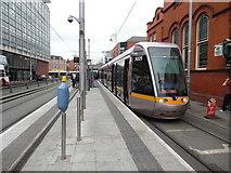 O1634 : A Luas tram in Dublin City Centre by David Hillas