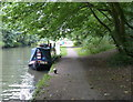 TQ0897 : Narrowboat moored along the Grand Union Canal by Mat Fascione