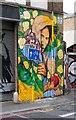TQ3382 : Mural by Ananda Nahu, Shoreditch by Julian Osley