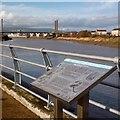 ST3287 : Information Board, River Usk, Newport by Robin Drayton