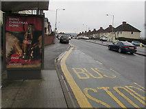 ST3090 : Zero sugar Coca Cola advert on a Malpas Road bus shelter, Newport by Jaggery