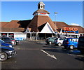 SO4938 : Tesco superstore entrance and clock tower, Hereford by Jaggery