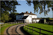 SJ7526 : Former public house at Shebdon in Shropshire by Roger  Kidd