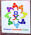 SO4938 : Multicoloured Belmont Community Centre name sign, Hereford by Jaggery
