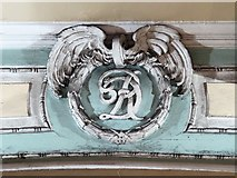 TQ2879 : Monogram crest, Victoria Arcade, SW1 by Mike Quinn