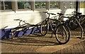 SX8671 : Bicycles at Newton Abbot station by Derek Harper