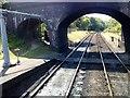 TG1141 : Water Crane, Platform 1, Weybourne Station by Peter Holmes