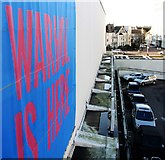 TQ7407 : Poster for Andy Warhol exhibition on De La Warr Pavilion by Patrick Roper