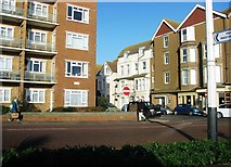 TQ7407 : Junction of Marina and Albert Road, Bexhill by Patrick Roper