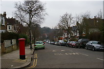 TQ2990 : Looking along Dukes Avenue towards Muswell Hill by Christopher Hilton
