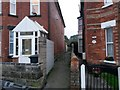 SZ1192 : Boscombe: footpath F06 from Wolverton Road by Chris Downer
