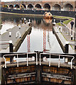 TQ2884 : Kentish Town lock and towpath, Regent's Canal by Jim Osley