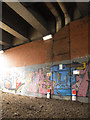SE3132 : Gas mains under the viaduct by Stephen Craven
