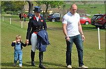 ST8083 : Zara, Mike & Mia Tindell, Badminton Horse Trials, Gloucestershire 2016 by Ray Bird
