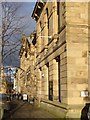 NY9363 : Facade of Queen's Hall, Hexham by Oliver Dixon