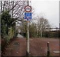 ST3188 : Cyclists dismount sign facing Mill Street, Newport by Jaggery