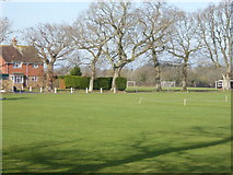 TQ2817 : Playing field and house at Hurstpierpoint College by Shazz