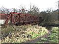 NS9296 : Disused bridge over the River Devon by John Allan