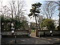 TQ1503 : Entrance to Homefield Park, BN11 2RH  by Peter Holmes