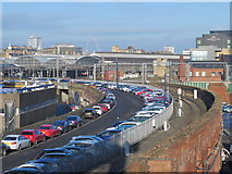NZ2463 : The former course of Tyne valley railway lines into Newcastle station by Mike Quinn