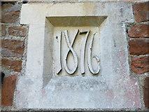 TQ0044 : Holy Trinity, Bramley: date stone by Basher Eyre