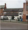 SJ7054 : Main entrance to Platt's Menswear & Formal Hire shop, Crewe by Jaggery