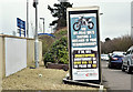 J3775 : Off-road bikes advertisement, Sydenham, Belfast (February 2017) by Albert Bridge