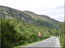 NN6795 : Creag Dhubh and the A86 by Richard Webb
