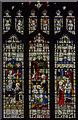 TF6119 : Nativity Stained glass window, King's Lynn Minster by Julian P Guffogg