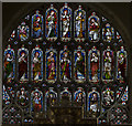 TF6119 : East window, King's Lynn Minster by Julian P Guffogg