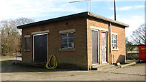 TG2202 : Caistor St Edmund sewage works - pumping station by Evelyn Simak