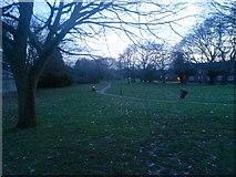 SZ0794 : Ensbury Park: footpath N26 goes across the open space by Chris Downer
