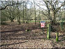 TG2202 : Dog litter bin beside a path through Dunston Common by Evelyn Simak