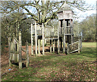 TG2202 : Children's play area on Dunston Common by Evelyn Simak