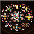 SD8913 : Rochdale Town Hall, Queen Victoria Rose Window by David Dixon