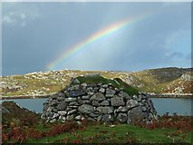 NB1736 : Shieling above Tob Chèurabhagh, Great Bernera/Beàrnaraigh by Claire Pegrum