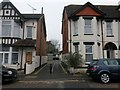 SZ1191 : Boscombe: Walpole Lane from Salisbury Road by Chris Downer