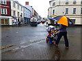 H4572 : Umbrella up, Dublin Road Corner, Omagh by Kenneth  Allen
